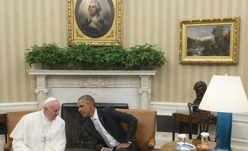 <p>El presidente Barack Obama con el papa Francisco en la Casa Blanca</p>  <p> </p>  <p><br></p>  <p> </p><p></p>
