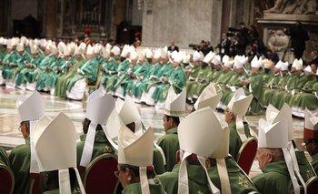 Los obispos durante la Misa inaugural.<br>