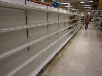 Desabastecimiento: una de las consecuencias del control de precios que sin embargo no ha logrado frenar la inflación en Venezuela