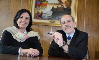 Carina Curci junto a Antonio Sarachu de la AUE
