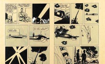 La pieza dibujada por Hergé data del año 1939<br>