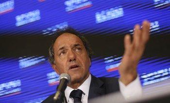 Scioli aseguró que está en sintonía con la presidenta<br>