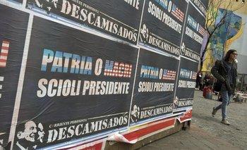 """""""Patria o Macri, Scioli presidente"""" en las calles de Buenos Aires.<br>"""