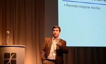 Darío Colombatto durante su exposición en ADP Zone.<br>