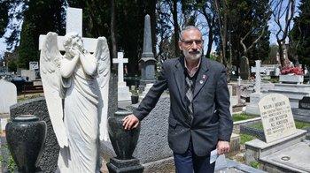 Eduardo Montemuiño, gestor cultural del cementerio