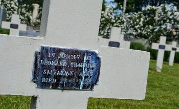 Sailors Corner, donde está enterrado el personal militar naval especial. Algunos fallecieron en la Batalla del Río de la Plata