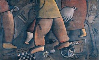 Imágenes del Kibutz, un óleo sobre tela del artista José Gurvich <br>