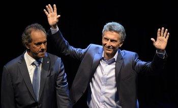 Daniel Scioli y Mauricio Macri<br>