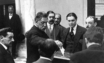 El presidente José Batlle y Ordóñez en un acto eleccionario