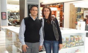 Agustín Decarlini y María Eugenia Días<br>
