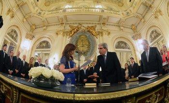 Cristina Fernández y Aníbal Fernández