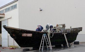 Uno de los barcos que aparecieron en noviembre
