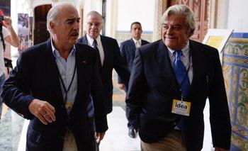 Andrés Pastrana y Luis Alberto Lacalle.<br>