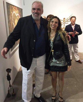 Lara Campliglia con el artista Pablo Atchugarry