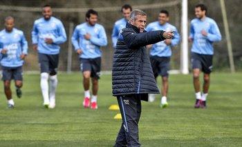 Portugal, Almancil. El DT uruguayo Óscar Tabárez durante entrenamiento, la selección disputará amistoso ante Marruecos.