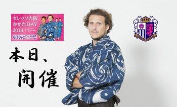 Forlán con el kimono