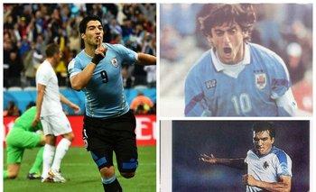 Suárez, Francescoli y Sosa