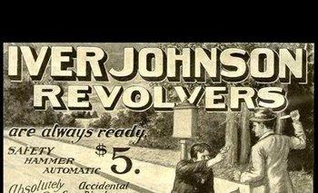 """""""Los revólveres Iver Johnson siempre están listos"""", promete este anuncio de principios de siglo XX"""