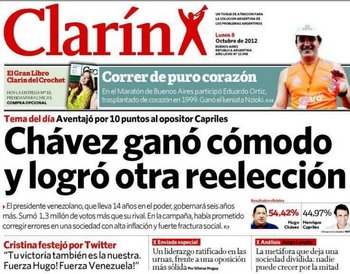 El argentino Clarín afirma que se ratificó el liderazgo pero que ahora tiene límites
