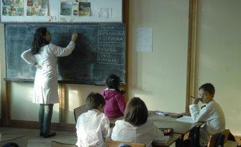 Una escuela de doble horario de Uruguay