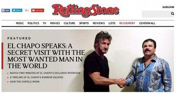 """El Chapo"" Guzmán junto a Sean Penn"