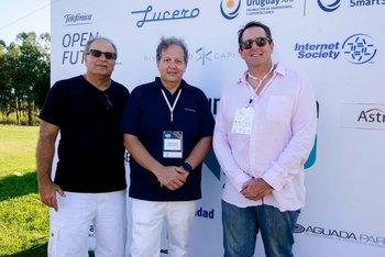 Pablo Brenner, Ariel Pfeffer y Sergio Fogel, los organizadores de Punta Tech.