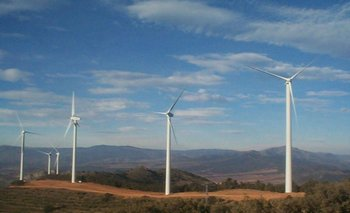 Parque eólico en Uruguay.