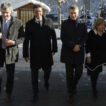 Massa acompañó a Macri en las reuniones más importantes del Foro Económico de Davos. <br>