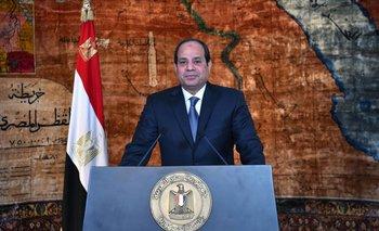 El presidente Abdelfatah al Sisi, que ayer emitió un mensaje televisado por el aniversario de hoy. <br>
