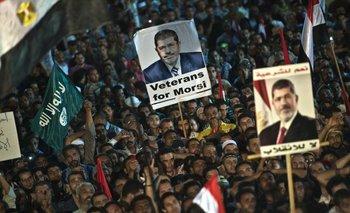 Manifestación de apoyo al derrocado Morsi