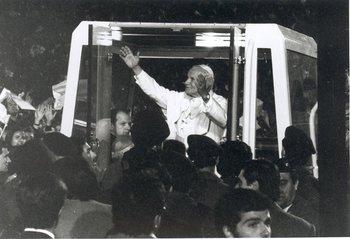 Imagen de archivo, de la visita de Juan Pablo II a Uruguay en 1988.<br>