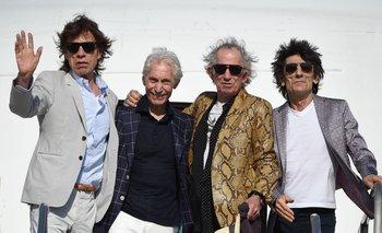 Los Rolling Stones en su llegada a Montevideo en 2016