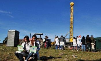 Trabajos de exploración realizados por ANCAP en Pepe Núñez, Salto.<br>