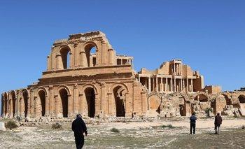 Anfiteatro romano de la antigua ciudad de Sabratha