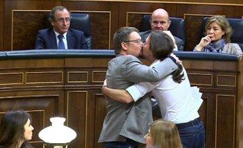 Xavier Doménech y Pablo Iglesias.<br>