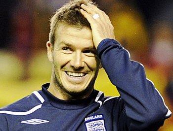 David Beckham fue capitán de la selección inglesa entre el año 2000 y el 2006<br>