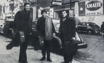 Hilario Pérez, Alfredo Zitarrosa y Ciro Pérez en 1966