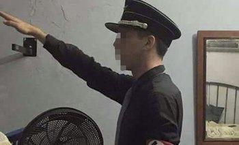 Foto subida a Facebook por el joven procesado<br>