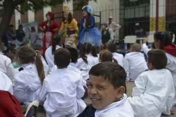 Ayer los pediatras realizaron el lanzamiento del programa en la escuela nº 34 del Cerro. D. Battiste