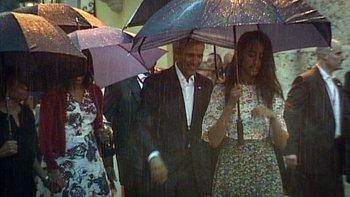 Barack Obama y su familia pasearon por La Habana Vieja.<br>