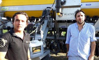 El argentino Lucas Talamoni y el uruguayo Juan José Falero en Expoactiva con Black Soil<br>