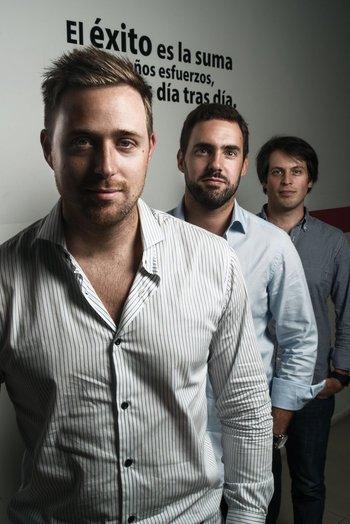 Ariel Burschtin, Álvaro García y Ruben Sosenke