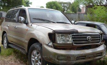 La camioneta en la que viajaba el matrimonio de paraguayos asesinados