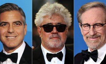 George Clooney, Pedro Almodovar y Steven Spielberg