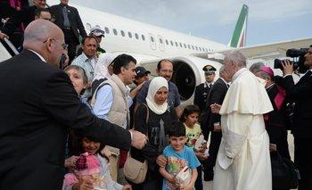 La llegada de las famlias sirias a Roma<br>