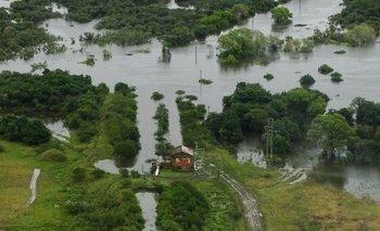Una amplia zona rural de Rocha quedó bajo agua por la crecida del Cebollatí<br>