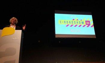 El presidente de CEDU, Marcelo Montado, durante la presentación de E-Road Show 2016