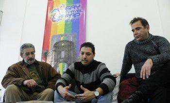 Raúl Turri, Adrián Russo y Sergio Miranda, de la Cámara de Comercio y Negocios LGBT