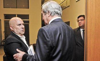 Stirling junto con Edgardo Novick, mientras fue su asesor en seguridad.