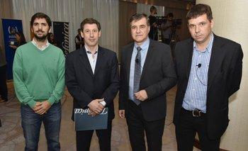Santiago Soto, Marcelo Tarakdjian, José Pedro Derrégibus y Gonzalo Salles